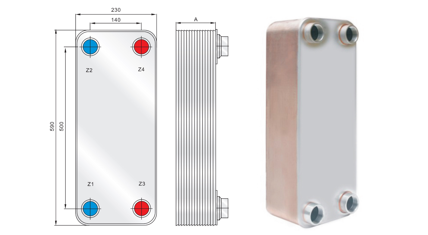 What is the detachable plate heat exchanger used for?