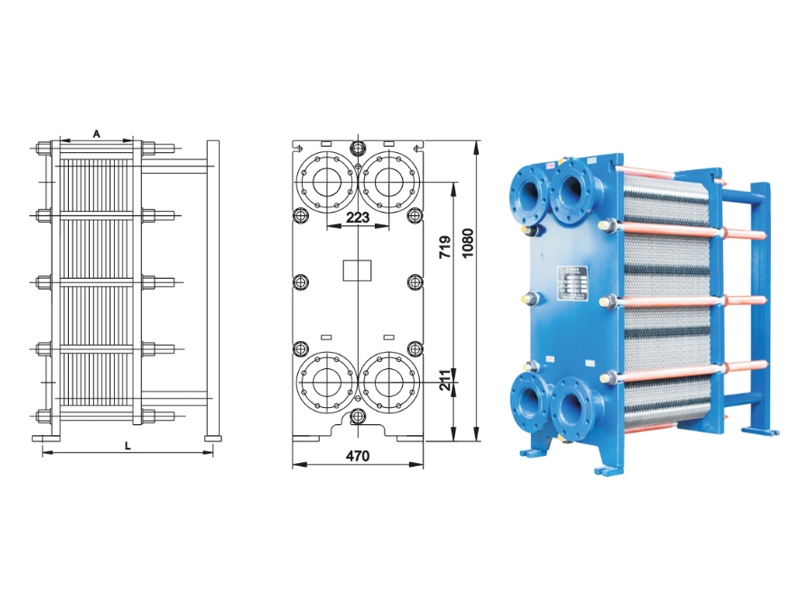 BR03 detachable plate heat exchanger